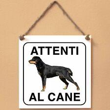 Smalandsstovare Segugio di Smaland 1 Attenti al cane Targa piastrella cartello