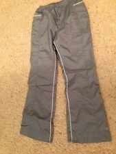 Womens REEBOK Gray Nylon Athletic pants With Lining Size M