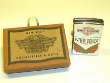 "HARLEY DAVIDSON ""V-Twin Power"" Eagle ZIPPO LIGHTER - 1996-SCATOLA ORIGINALE-Made in U.S.A."