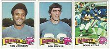 9 1975 TOPPS FOOTBALL NEW YORK GIANTS CARDS (JOHNSON/TUCKER+++)