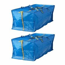 2 x IKEA FRAKTA Large Blue Zipped Trunk Storage Bags 76L
