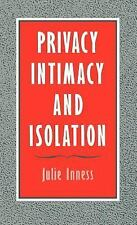 Privacy, Intimacy, and Isolation, Julie Inness, New Book
