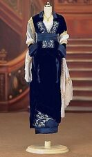FRANKLIN MINT TITANIC ROSE BLUE VELVET FLYING SCENE DRESS ENSEMBLE BRAND NEW COA