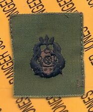 US Army Master Diver badge OD Green & Black qualification cloth patch