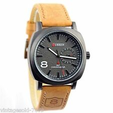 2016- ROE New Fashion Curren Branded  Leather Strap Military Wrist Watch