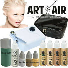 Art of Air Professional Airbrush Cosmetic Makeup System - Fair Foundation Set