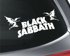 2X  Black Sabbath _ Car Window Vinyl Stickers _ Rock band Music Heavy Metal