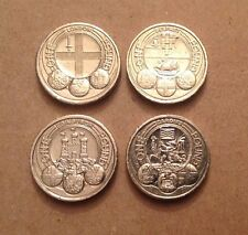 UK Capital Cities £1 one pound coins; set of 4 Edinburgh Cardiff London Belfast