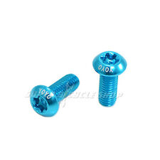 Water Bottle Cage Bolts Screws,M5X15mm, Blue , 2Pcs