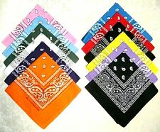 12 pcs Assorted 100% Cotton Paisley Pattern Bandanas Head Wrap Scarf Wristband