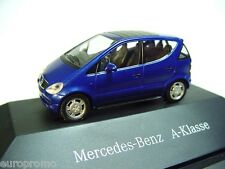 1:87 HERPA 1997 MERCEDES BENZ A-Class (W168) deep sea blue RARE PROMO MODEL !!