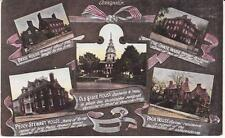 Scarce 1915 Multi View Postcard of Annapolis with Train Timetable