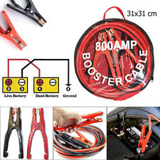 Heavy Duty Battery Jump Start Leads Cable 800amp 4m Long Jumpleads Car Van Boost