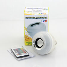 E27 Bluetooth 3.0 MusicPlaying LED Bulb 24key Remote B22 to E27 Adapter Included