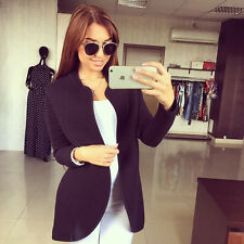Fashion Women Slim Fit Casual Long Coat Jacket 2015 New Autumn Open Style 3Color