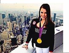 USA GOLD MEDALIST MCKAYLA MARONEY SIGNED WEARING MEDAL 8X10