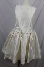 J.Crew Crewcuts $228 Girls' Bow Dress Silk Dupioni Ivory 3 NWT Party C2279