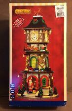 Lemax Village CHRISTMAS CLOCK TOWER Animated Lighted Sound & Music! MINT IN BOX!