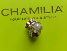 Genuine Chamilia silver &14ct yellow & rose gold pearl petals charm MG-2