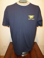 U.S MILITARY NAVY SEAL TEAM T SHIRT NAVY SEALS SIZE LARGE NAVY BLUE