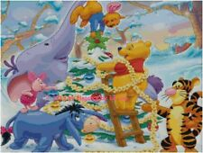 "Disney's Winnie the Pooh ""Decorating the Christmas Tree"" Cross Stitch Pattern CD"