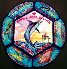 2013 SCOUT Jamboree MOBILE AREA COUNCIL OA 322 7 PATCH SET GUY HARVEY DELEGATE