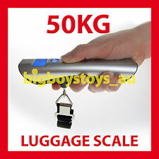 LUGGAGE SCALES PORTABLE TRAVEL 50KG * BUILT IN TAPE MEASURE * FAST POSTAGE
