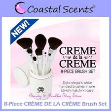 NEW Coastal Scents 8-Piece CREME DE LA CREME Brush Set w/Cup Holder FREE SHIP