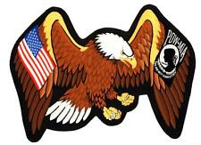 USA Flag POW MIA Eagle Wings Embroidered Back Patch Iron Sew RPPM8234