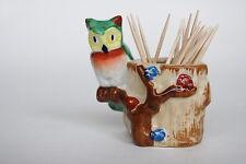 Vintage 1940s Occupied Japan Figurine - Owl Figurine Toothpick Holder