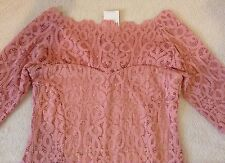 Bnwt *NEXT* Blush/Pink  Vintage Lace Bodycon Dress (size Uk 22 Reg)