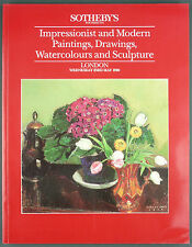 CATALOGUE VENTE ENCHERES - SOTHEBY'S 1990 - IMPRESSIONIST & MODERN PAINTINGS…