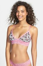 NEW HANKY PANKY 'Purrfectly Sheer' Bralette Size S Pink/Gray #9Y7672 $53