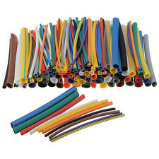 SOLOOP 144Pcs Assortment 2:1 Heat Shrink HeatShrink Tubing Tube Wrap Wire Kit F