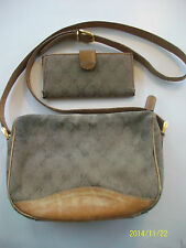 "Authentic Brown Gucci Purse 10x7x3"" + Brown Gucci Wallet 7x3 1/2 Used"