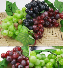 High Bunch Lifelike Artificial Grapes Plastic Fake Fruit Food Home Decoration &