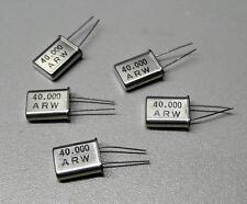 5 Stück ARW 40.000 MHz (40 MHz) Quarze / Bauform HC-49/U (M8638)
