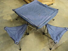 Northpole Fold Out Camping Table 4 Chairs 50in L x 50in W x 24in H Purple