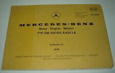 Ersatzteilkatalog Mercedes Omnibus Typ OM 424 / 424 A / 424 LA Stand 05/1983