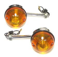 Lucas Type Rear Turn Signal Set Short 60-4105 54057553 Blinker Triumph BSA 71 up