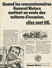 Publicité Advertising 1968  General Motors  Voitures d'occasion