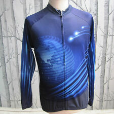 Xintown Long Sleeved Cycling Jersey Blue Men's Size L Large Binary Internet