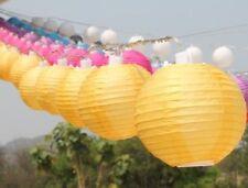 Gelb-runde Chinesische Papierlaterne BATTERIE LED Lichterkette 20 Mini Laternen