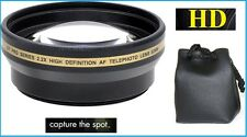 Pro HD 2.2x Telephoto Lens for Samsung NX3300 EV-NX3300 NX500 EV-NX500