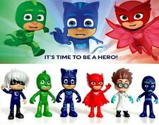 6 PCS/SET PJ MASKS SUPER PIGIAMINI TOY PERSONAGGI ACTION FIGURE CATBOY CARTOON