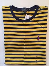 NWT Women's Polo Ralph Lauren Sport SS Crew Neck T-Shirt Yellow Black- Medium