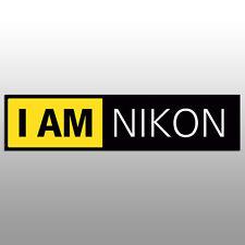 """I am NIKON 5.5"""" Vinyl Sticker 3 colors"""