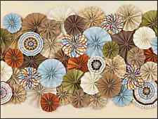 7x5FT Vintage Chic Paper Flowers Wall Photo Studio Background Backdrop Vinyl