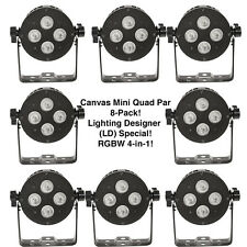 (8-Pack) Canvas Mini Quad RGBW 4-in-1 LED Par Micro-sized DMX Stage Light