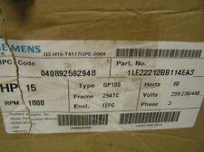 SIEMENS 1LE22212BB114EA3 MOTOR 15HP  + MAGNETIC STARTER  (NEW)